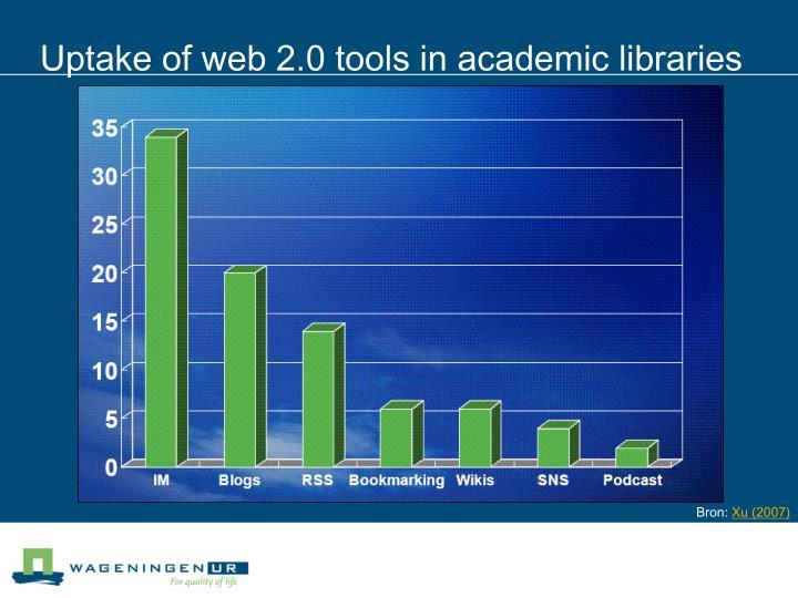 Uptake of web 2.0 tools in academic libraries