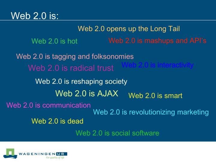 Web 2.0 is: