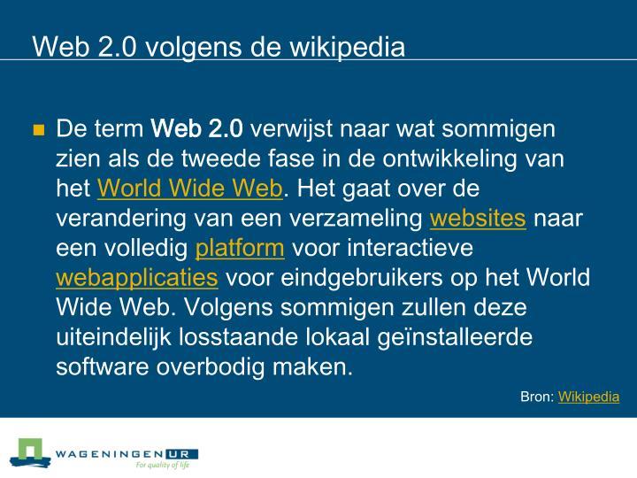 Web 2.0 volgens de wikipedia