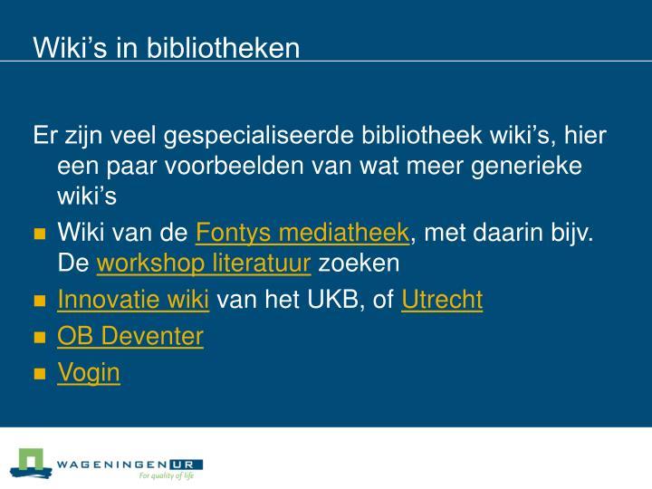 Wiki's in bibliotheken