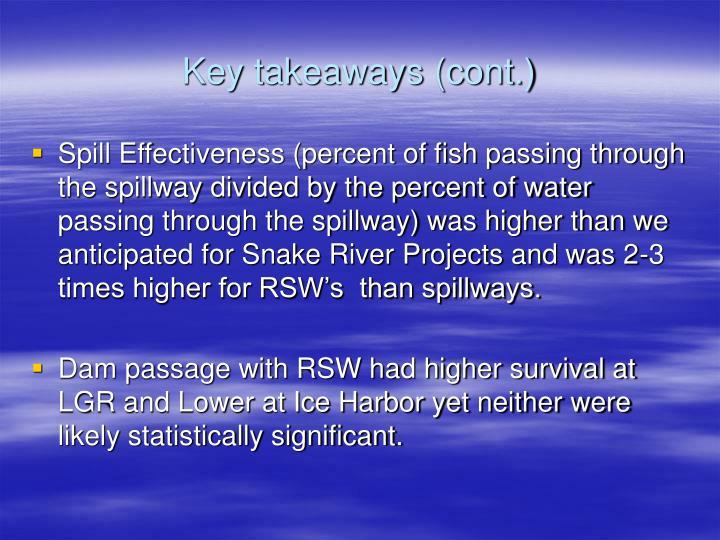 Key takeaways (cont.)
