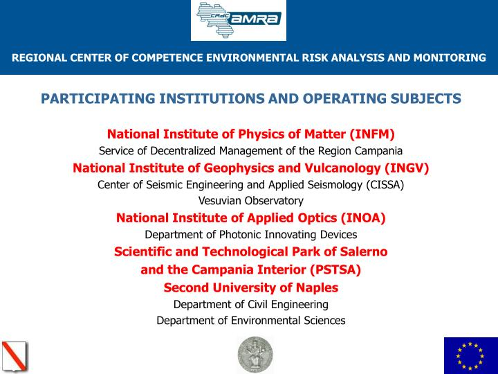 PARTICIPATING INSTITUTIONS