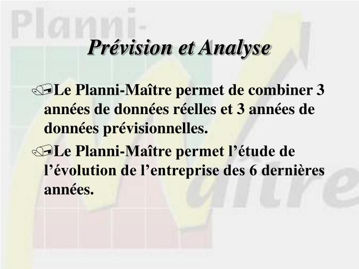 Prévision et Analyse