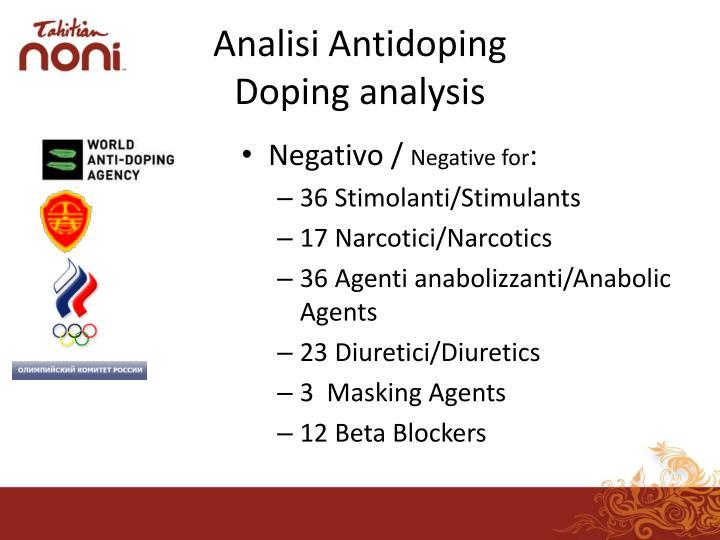 Analisi Antidoping