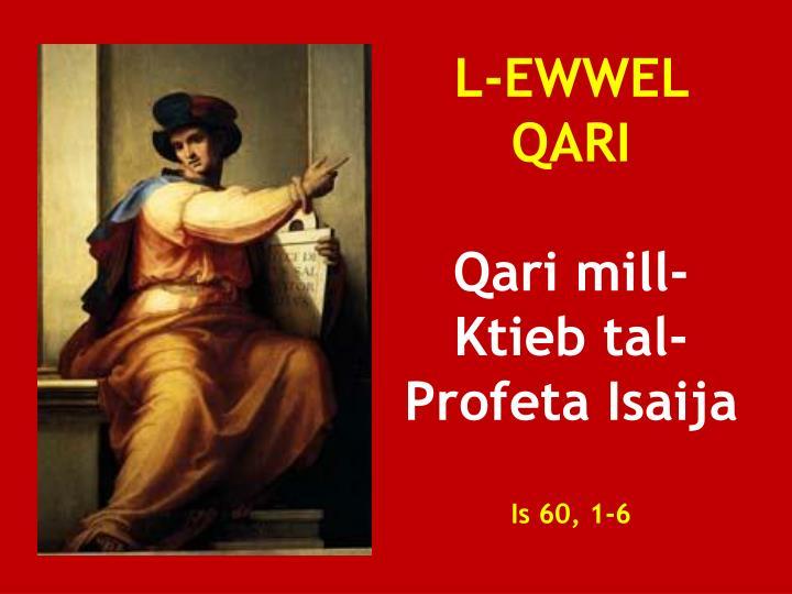 L-EWWEL QARI