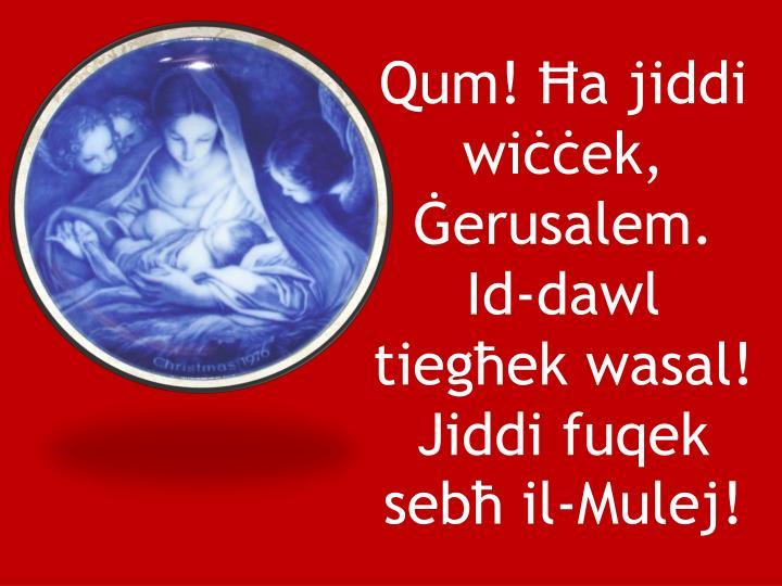 Qum! a jiddi wiek, erusalem.