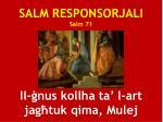 salm responsorjali salm 71 il nus kollha ta l art jag tuk qima mulej
