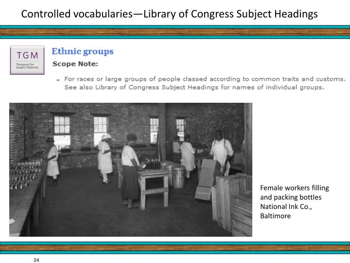 Controlled vocabularies—Library of Congress Subject Headings
