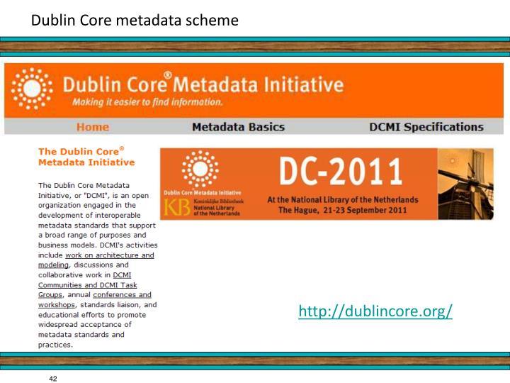 Dublin Core metadata scheme