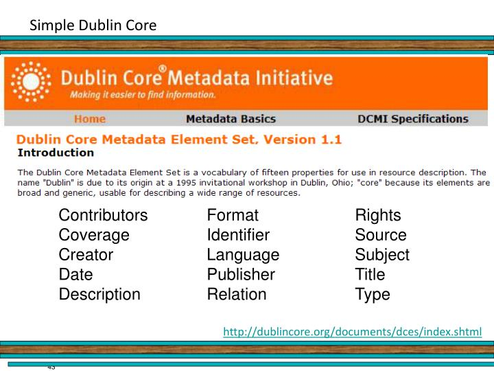Simple Dublin Core