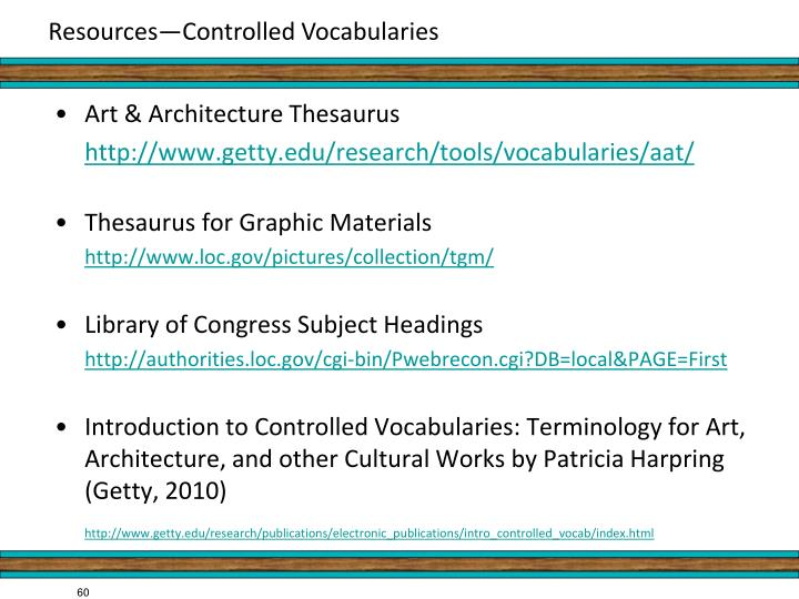 Art & Architecture Thesaurus