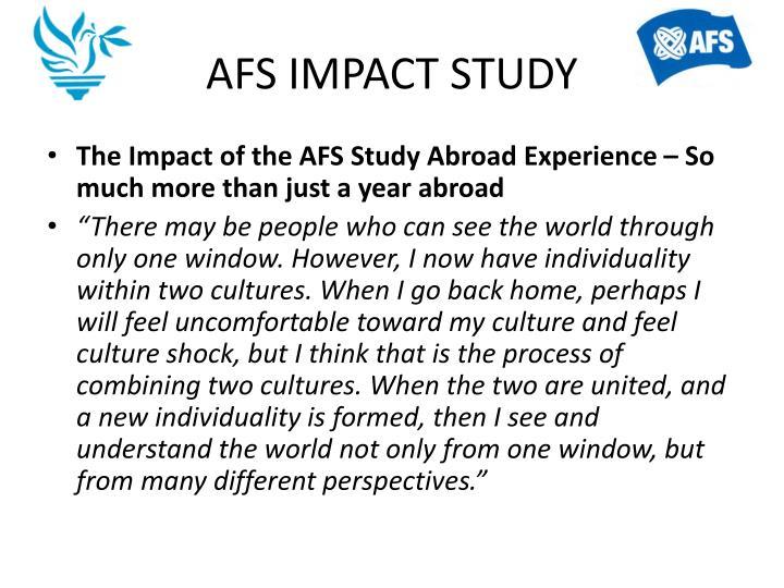 AFS IMPACT STUDY