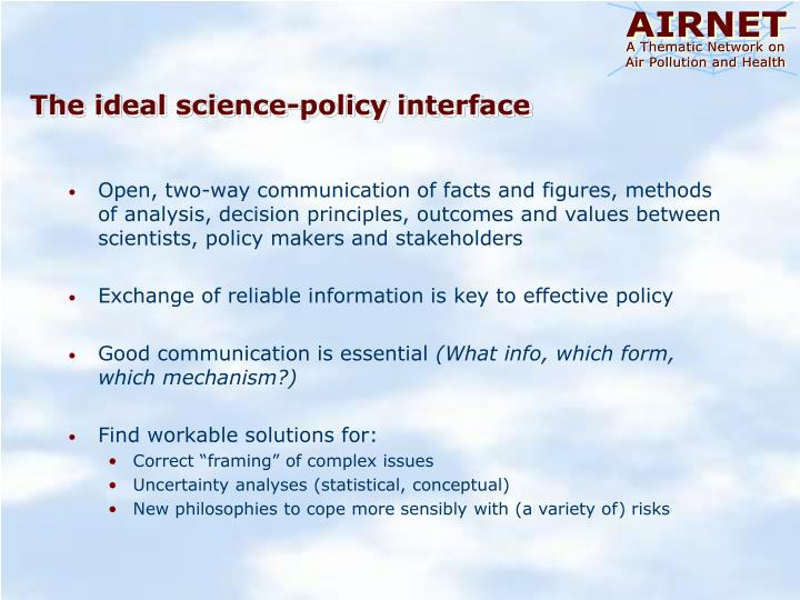 The ideal science-policy interface