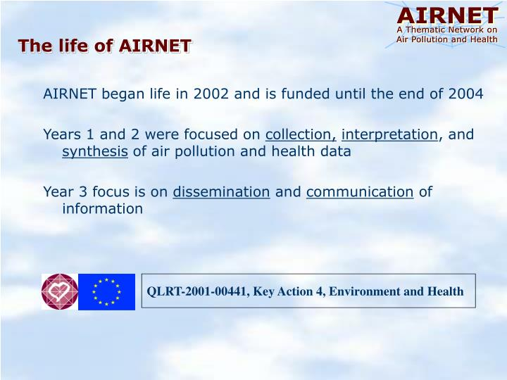 The life of AIRNET