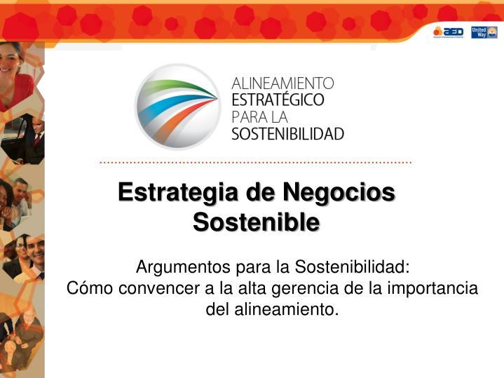 Estrategia de Negocios Sostenible