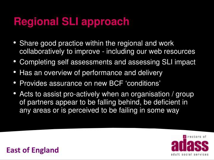 Regional SLI approach