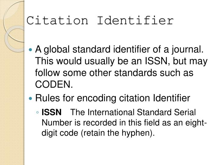 Citation Identifier
