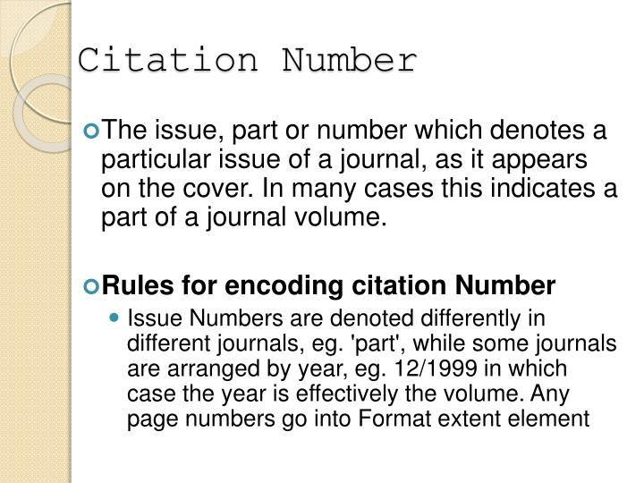Citation Number