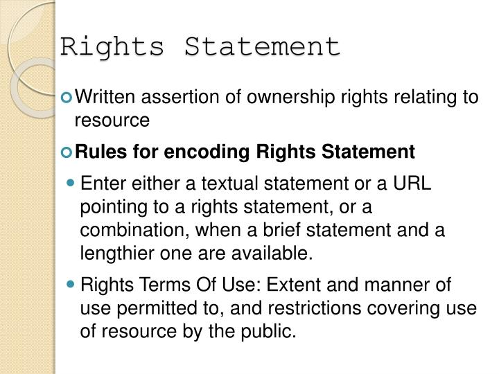 Rights Statement