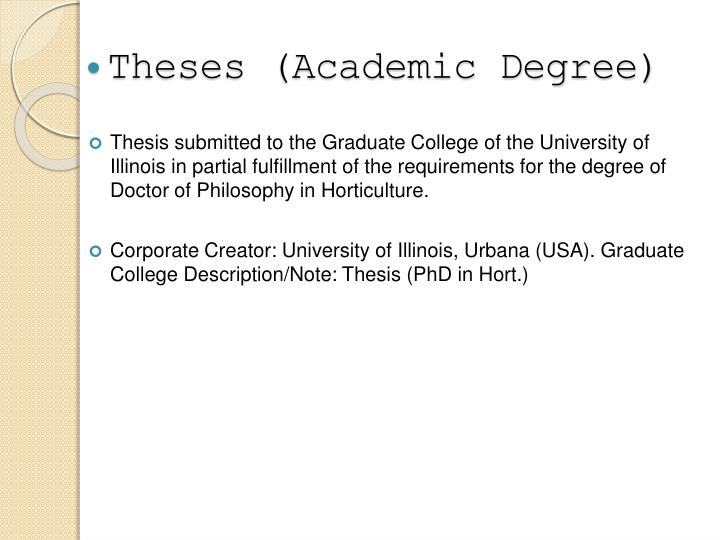 Theses (Academic Degree)