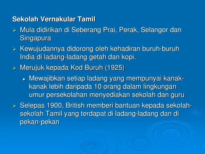 Sekolah Vernakular Tamil