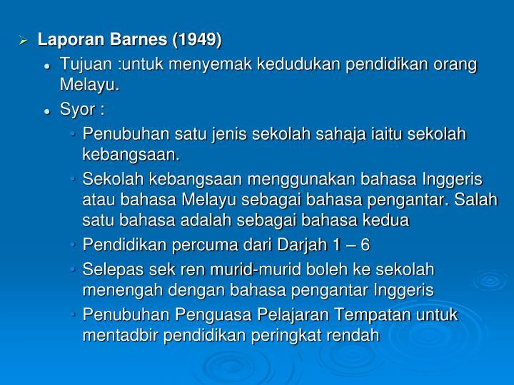Laporan Barnes (1949)
