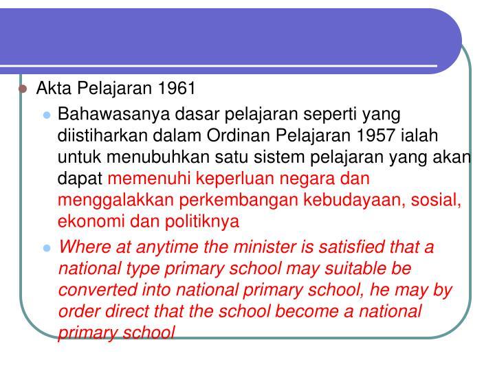 Akta Pelajaran 1961