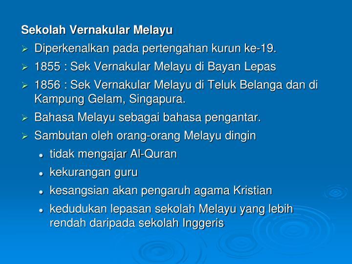 Sekolah Vernakular Melayu