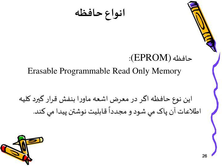 انواع حافظه