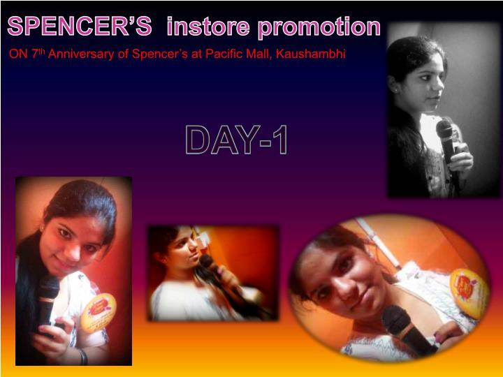 SPENCER'S  instore promotion
