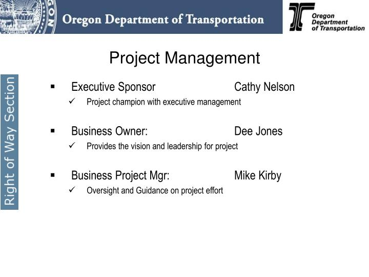 Executive SponsorCathy Nelson