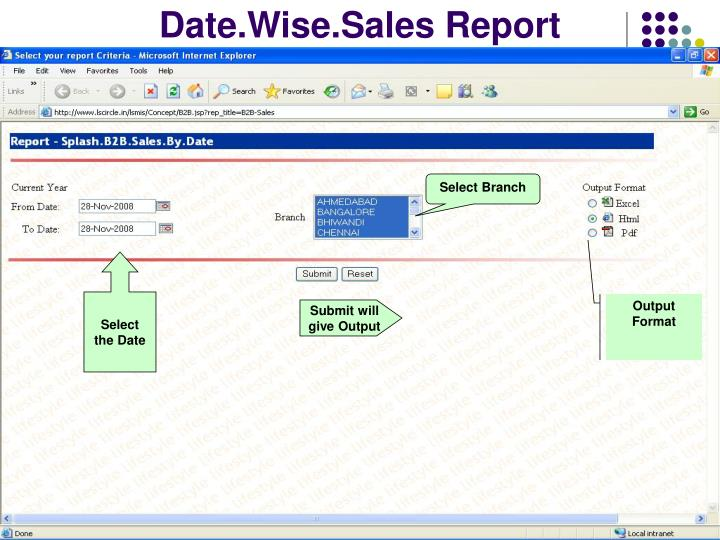 Date.Wise.Sales Report