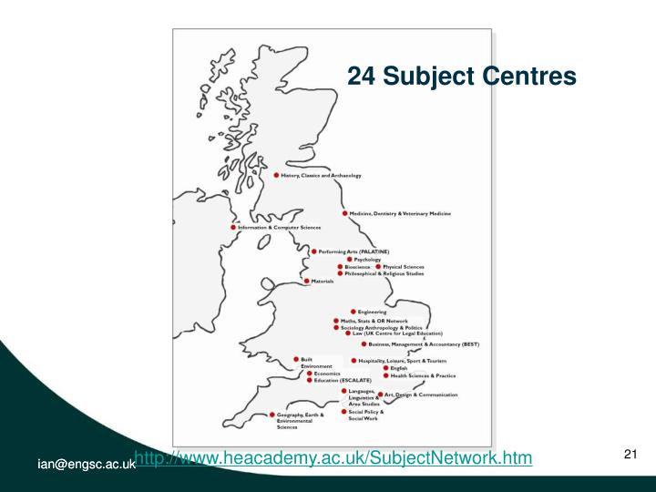 24 Subject Centres