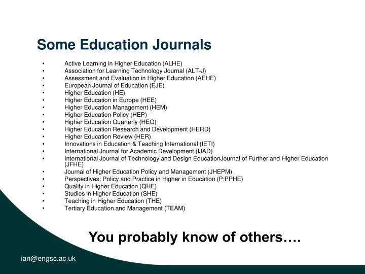 Some Education Journals