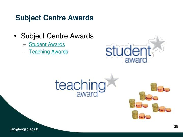 Subject Centre Awards