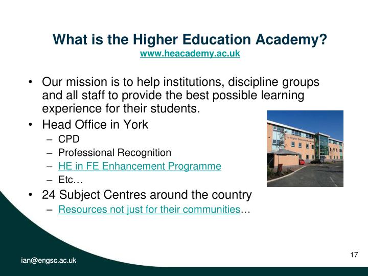 What is the Higher Education Academy?