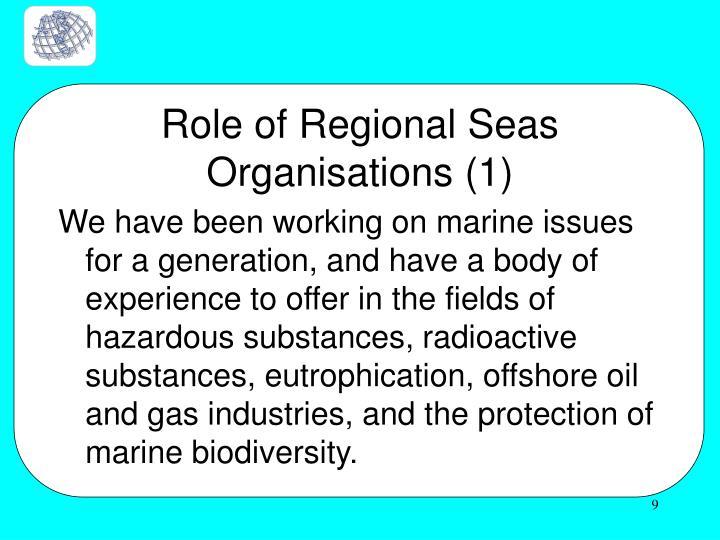 Role of Regional Seas Organisations (1)
