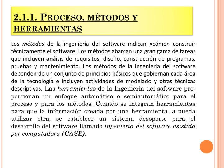 2.1.1. Proceso, métodos