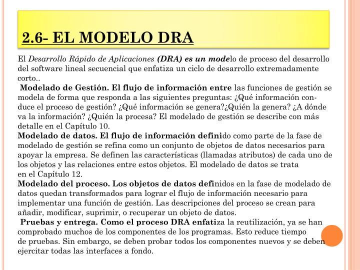 2.6- EL MODELO DRA
