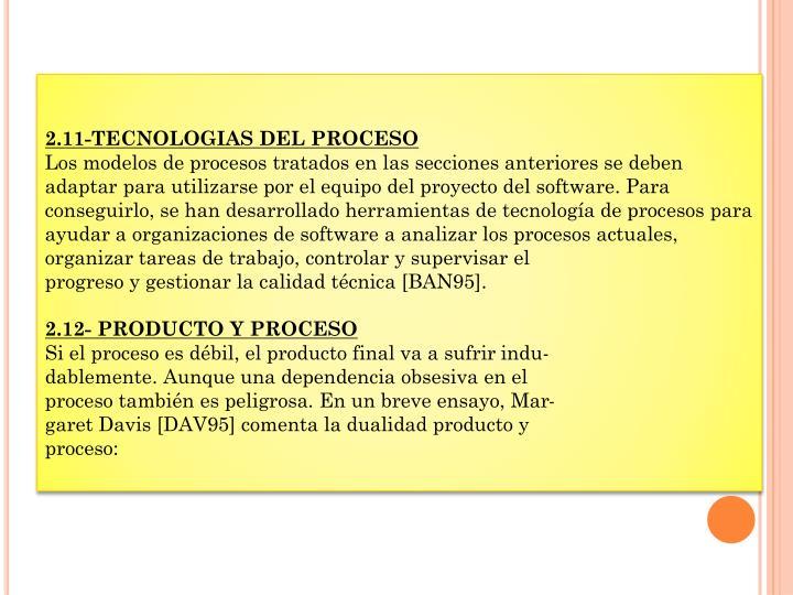 2.11-TECNOLOGIAS DEL PROCESO