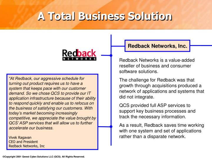 Redback Networks, Inc.