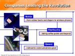 companies leading the revolution
