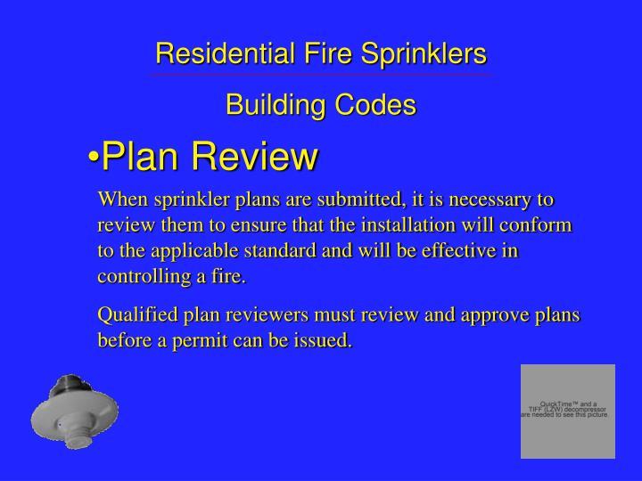 Residential Fire Sprinklers