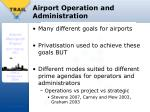 airport operation and administration