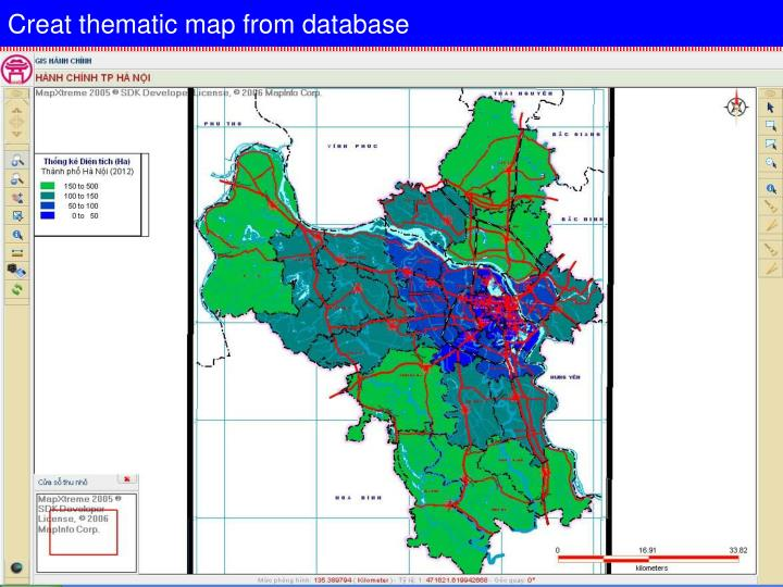 Creat thematic map from database