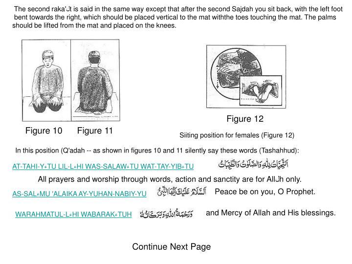 The second raka'