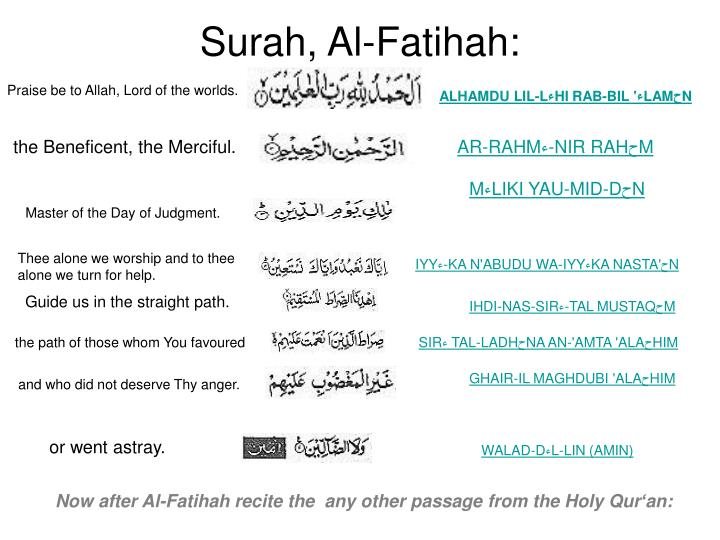 Surah, Al-Fatihah: