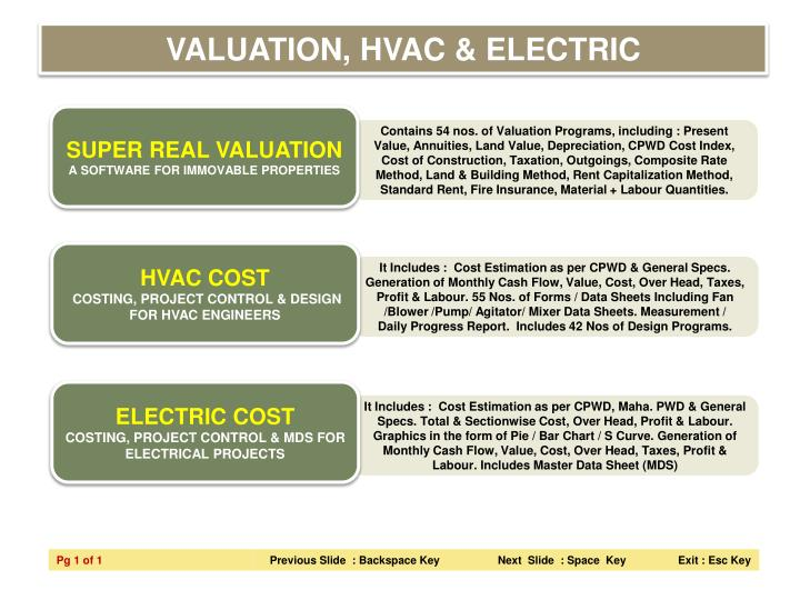 VALUATION, HVAC & ELECTRIC