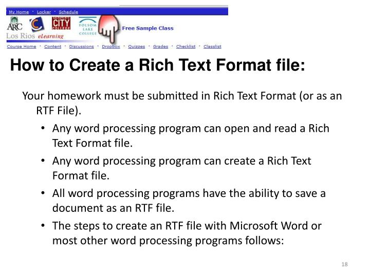 How to Create a Rich Text Format file: