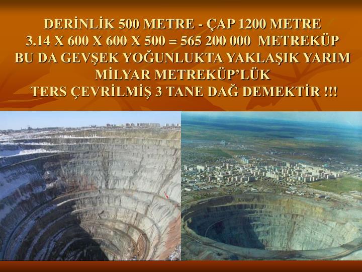 DERNLK 500 METRE - AP 1200 METRE